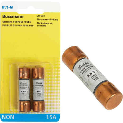 Bussmann 15A NON Cartridge General Purpose Cartridge Fuse (2-Pack)