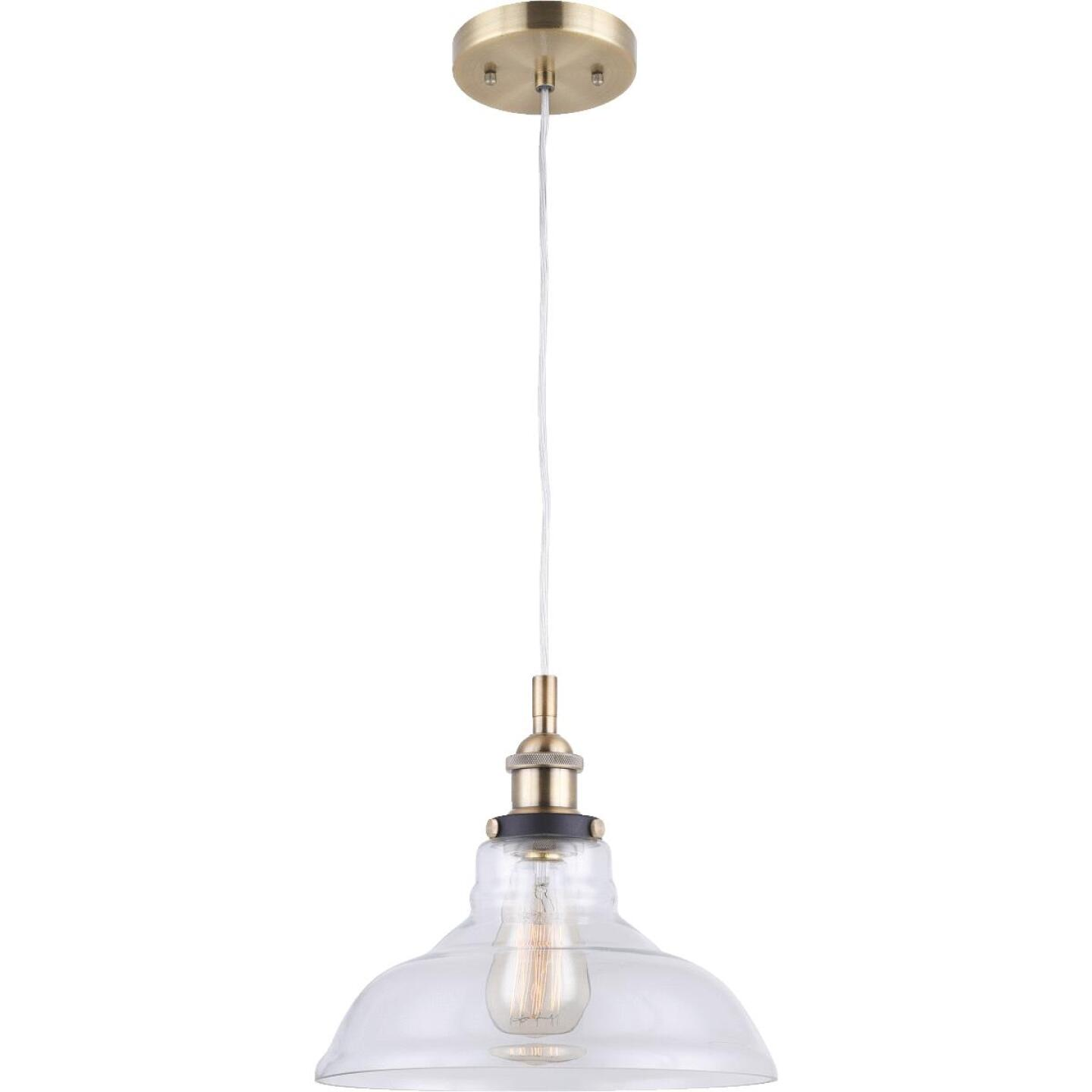 Home Impressions 1-Bulb Brass Incandescent Pendant Light Fixture Image 1