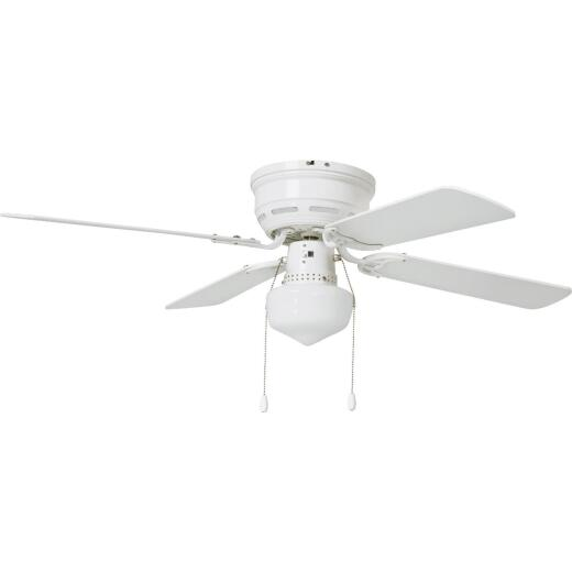 Home Impressions 42 In. White Ceiling Fan with Light Kit