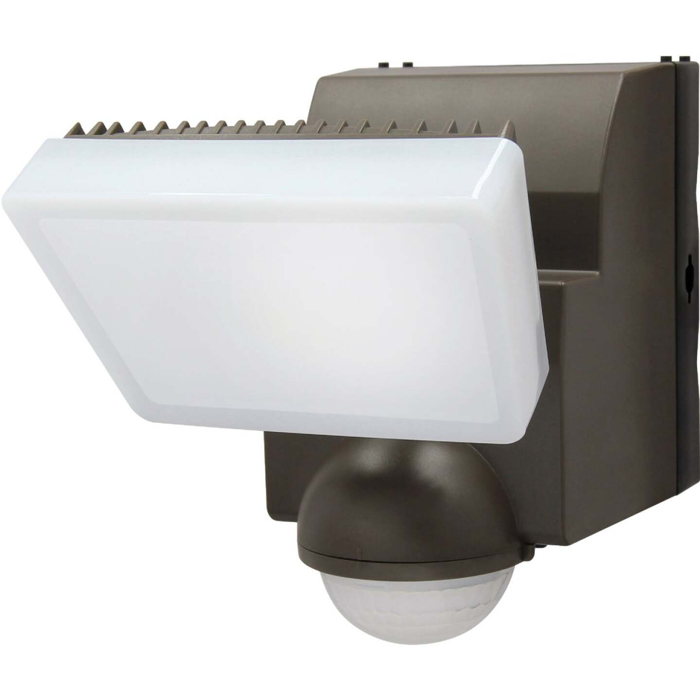 IQ America Bronze 500 Lm. LED Motion Sensing Battery Operated 1-Head Security Light Fixture Image 1
