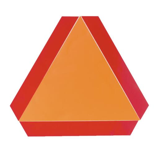 Safety Vehicle Emblem 16 In. x 14 In. Slow Moving Vehicle Emblem, Decal
