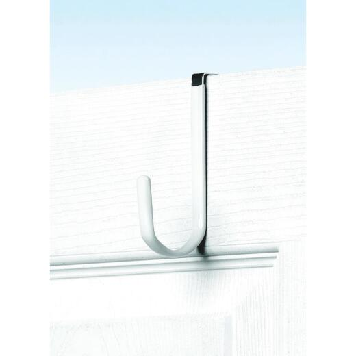 Spectrum Metal White Single Over-The-Door Hook