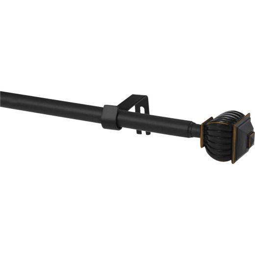 Kenney Beckett 48 In. To 86 In. 5/8 In. Oil Rubbed Bronze Standard Cafe Rod