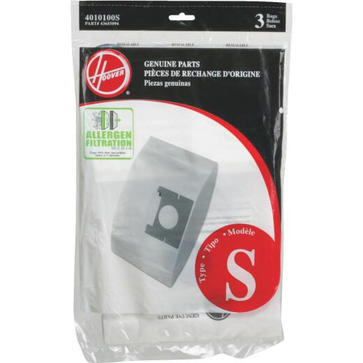 Hoover Type S Allergen Filtration Vacuum Bag (3-Pack)