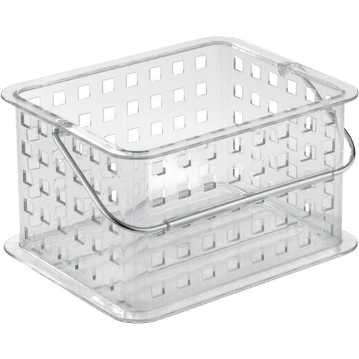 iDesign Clarity 8.8 In. L.x 6.9 In. H. x 5.3 In. D. Plastic Stackable Storage Basket
