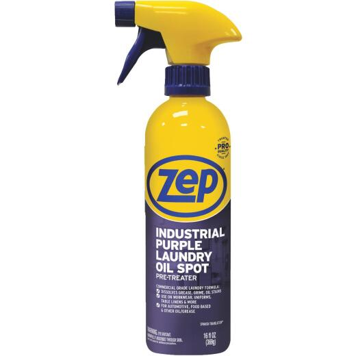 Zep 16 Oz. Industrial Purple Laundry Oil Stain Pre-Treat Stain Remover