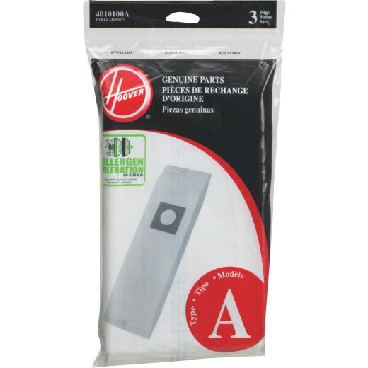 Hoover Type A Allergen Filtration Vacuum Bag (3-Pack)