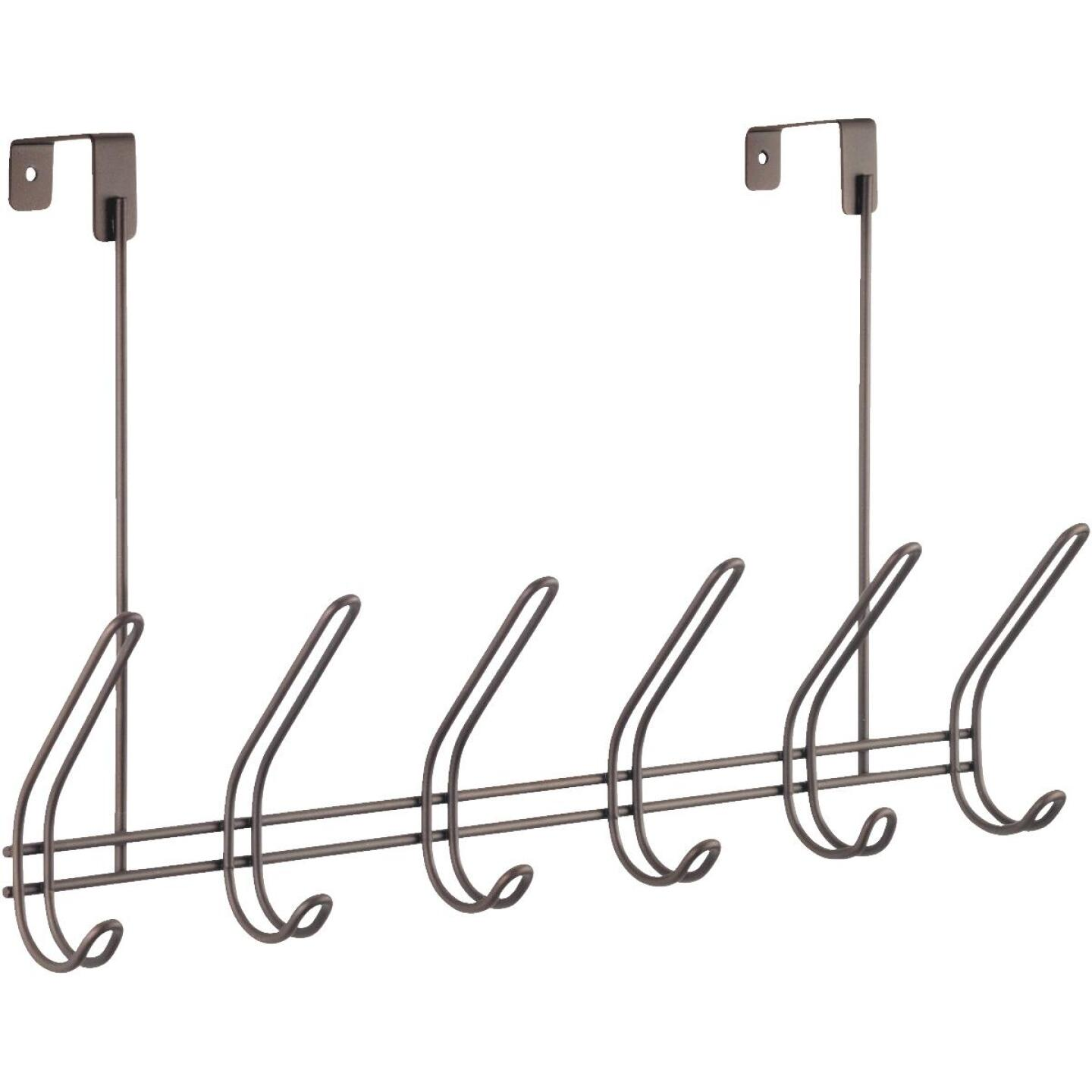 iDesign Classico Over-The-Door Bronze 6-Hook Rail Image 1