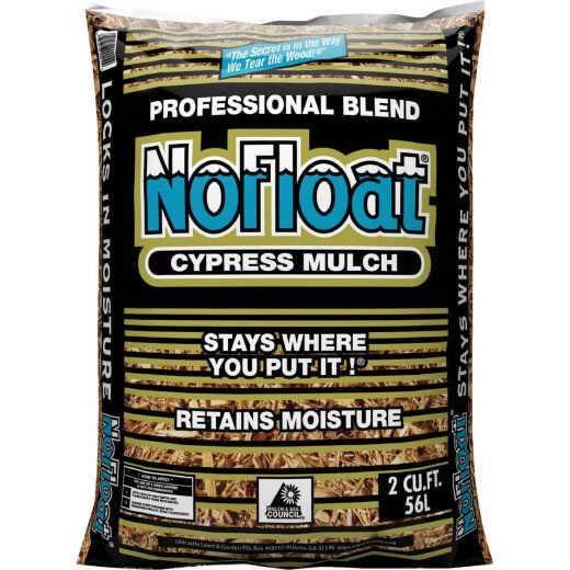 No Float 2 Cu. Ft. Rich Brown Cypress Mulch