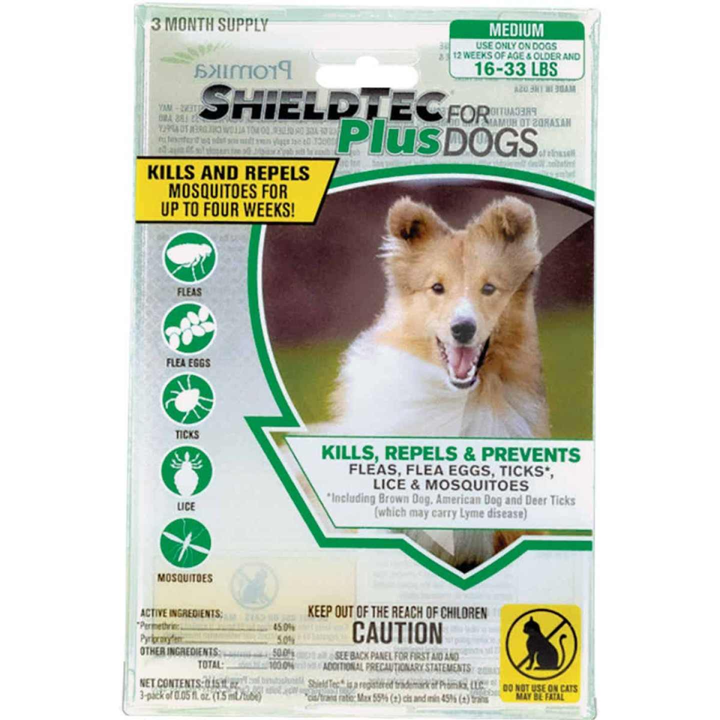 ShieldTec Plus 3-Month Supply Flea & Tick Treatment For Medium Size Dogs 16 Lb. to 33 Lb. Image 1