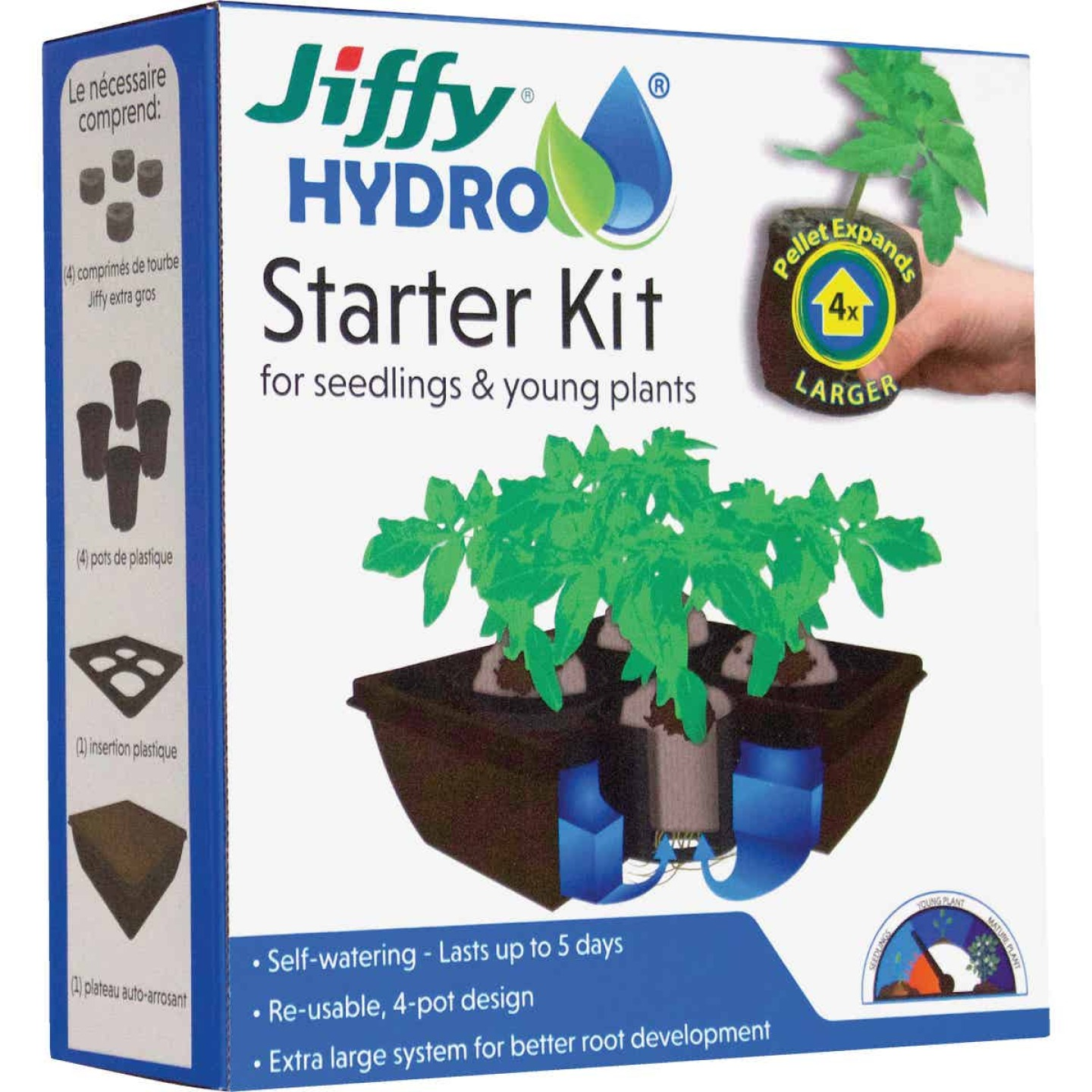 Jiffy Hydro 4-Cell Seedling Hydroponic Starter Kit Image 1