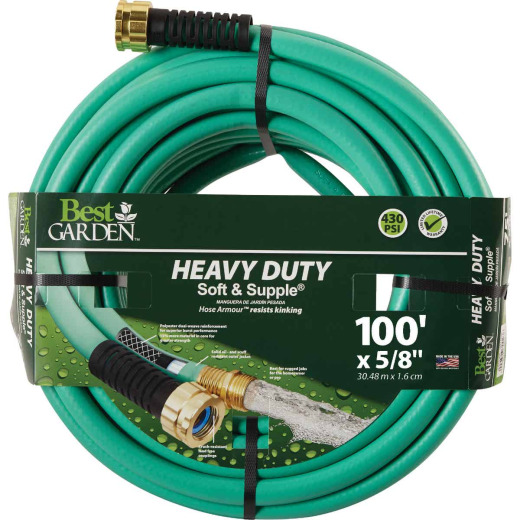 Best Garden 5/8 In. Dia. x 100 Ft. L. Heavy-Duty Soft & Supple Garden Hose