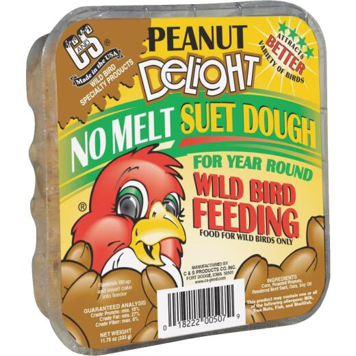 C&S 11.75 Oz. Peanut Delight Suet Dough