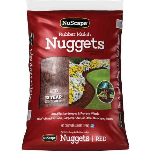NuScape Red 0.8 Cu. Ft. Rubber Mulch Nuggets