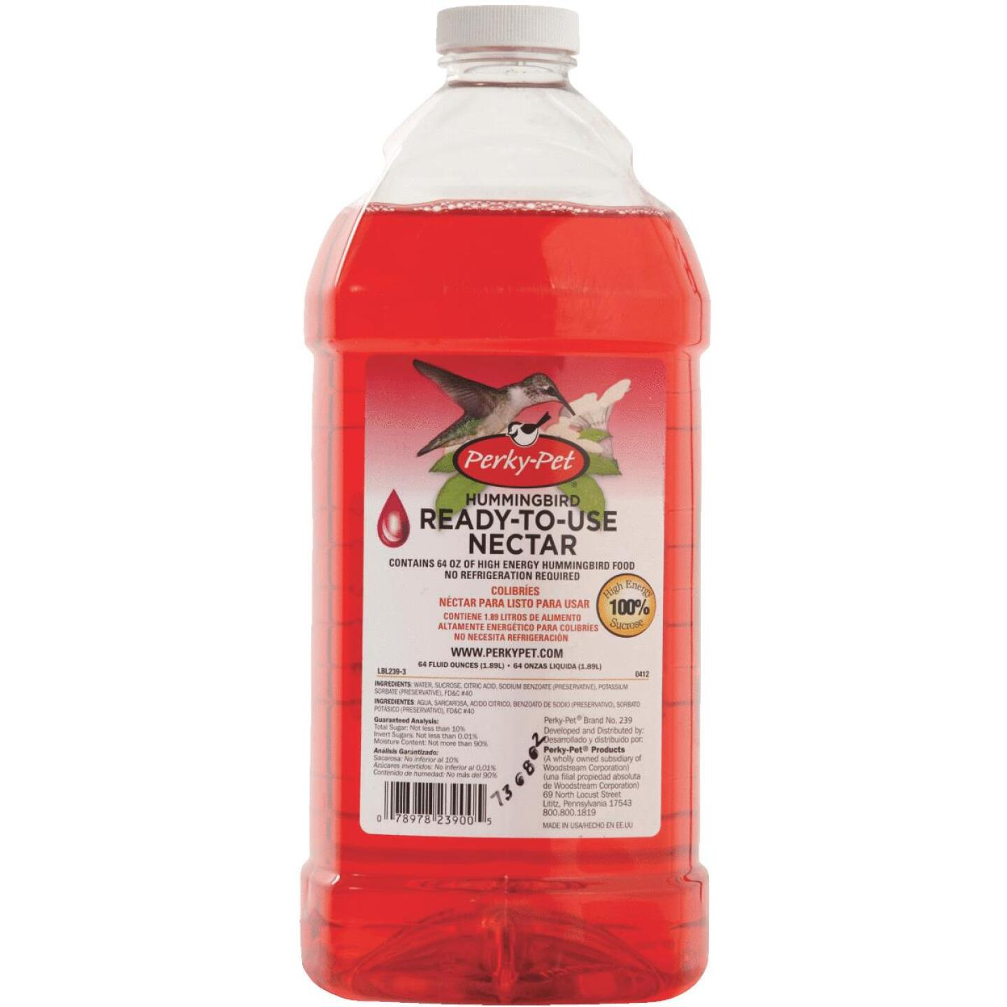 Perky-Pet 64 Oz. Red Ready To Use Liquid Hummingbird Nectar Image 2