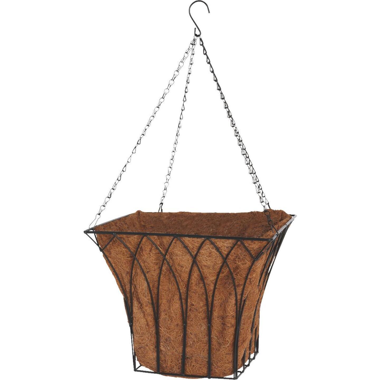 Best Garden 14 In. Steel Rod Black Hanging Plant Basket Image 3