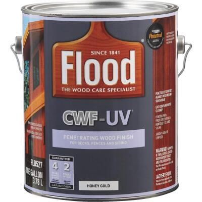Flood CWF-UV Oil-Modified Fence Deck and Siding Wood Finish, Honey Gold, 1 Gal.