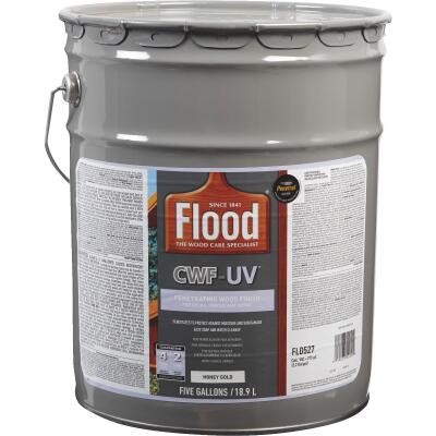 Flood CWF-UV Oil-Modified Fence Deck and Siding Wood Finish, Honey Gold, 5 Gal.