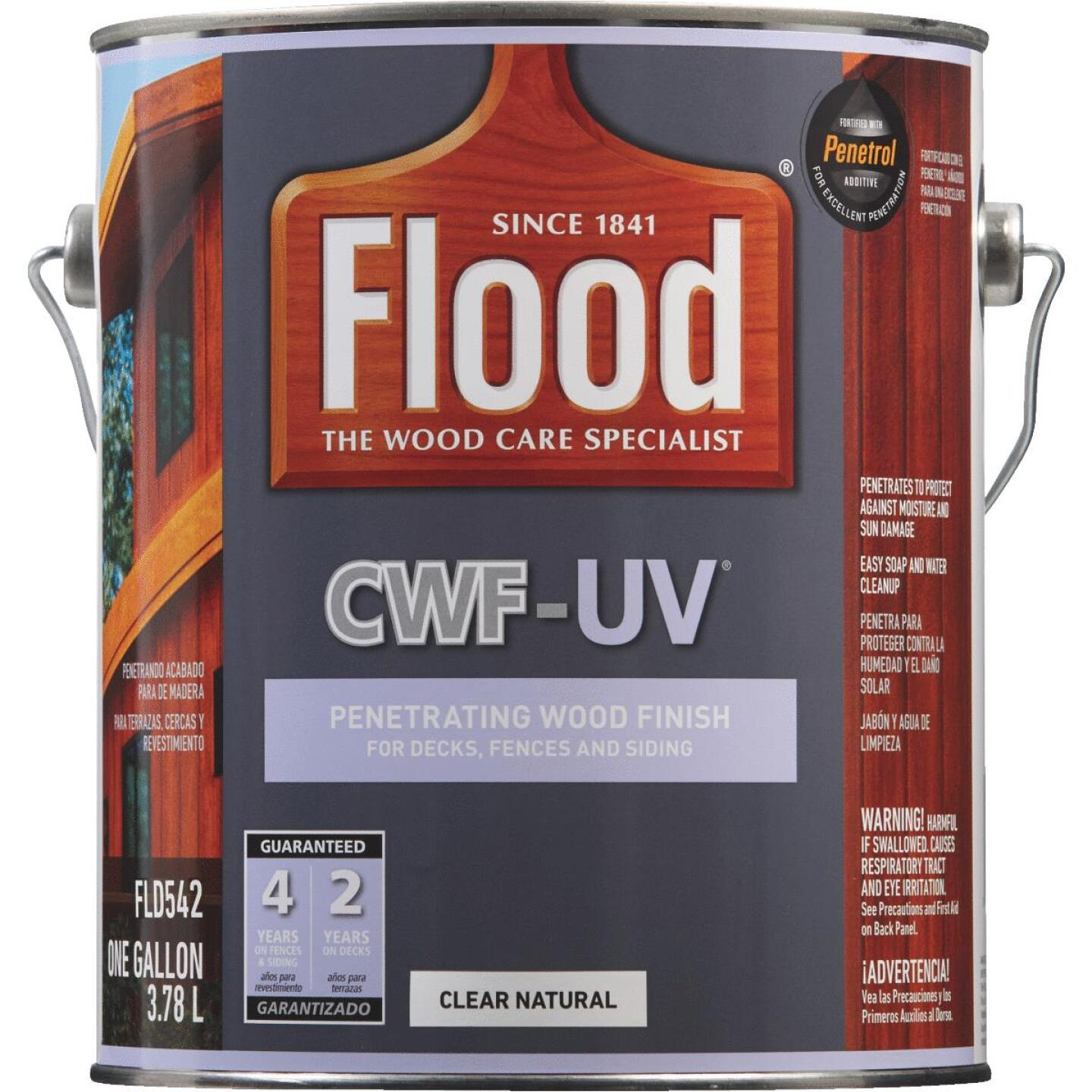 Flood CWF-UV Oil-Modified Fence Deck and Siding Wood Finish, Natural, 1 Gal. Image 2
