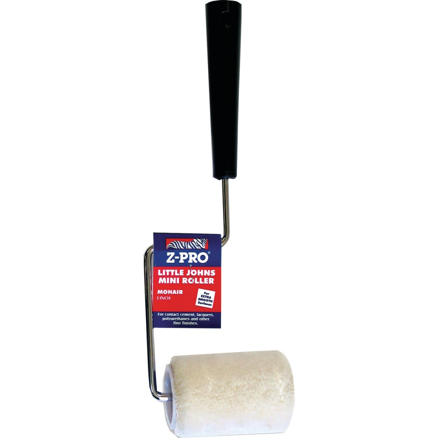Premier Z-Pro 3 In. x 1/4 In. Smooth Mohair Paint Roller Cover & Frame Image 1