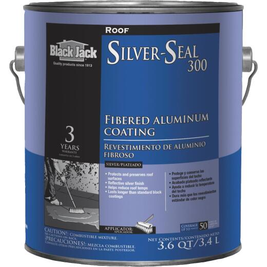 Black Jack Silver Seal 300 1 Gal. 3 Year Fibered Aluminum Coating