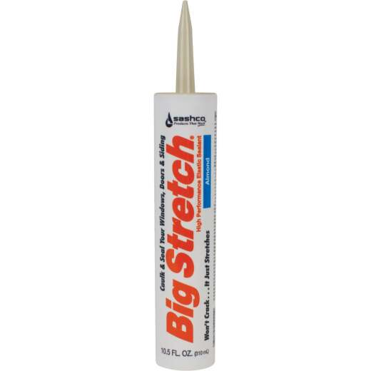 Sashco Big Stretch 10.5 Oz. Acrylic Elastomeric Caulk, Almond