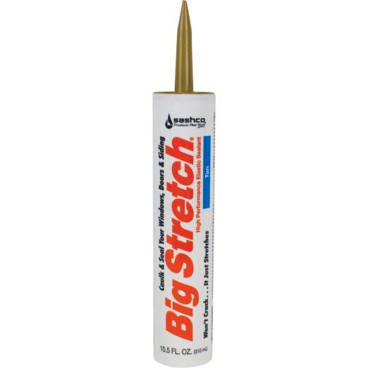 Sashco Big Stretch 10.5 Oz. Acrylic Elastomeric Caulk, Tan