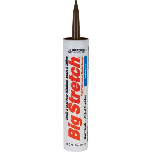 Sashco Big Stretch 10.5 Oz. Acrylic Elastomeric Caulk, Woodtone