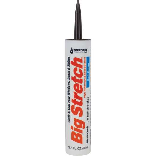 Sashco Big Stretch 10.5 Oz. Acrylic Elastomeric Caulk, Dark Brown