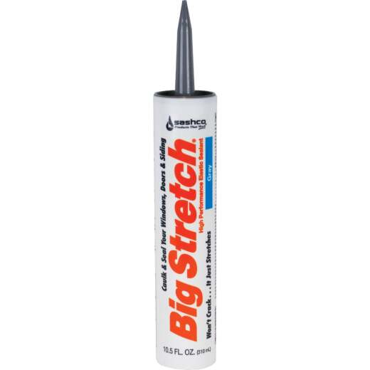 Sashco Big Stretch 10.5 Oz. Acrylic Elastomeric Caulk, Gray