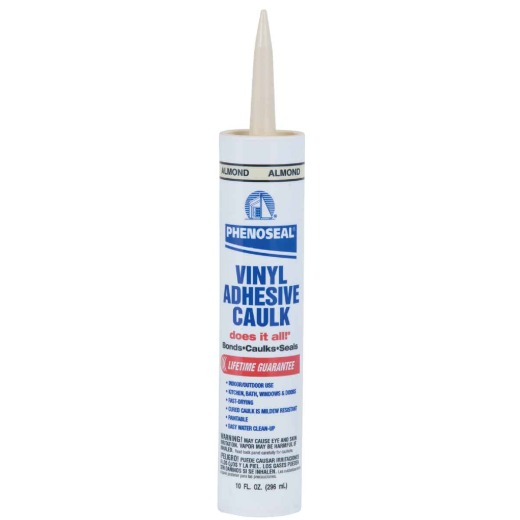 Phenoseal 10 Oz. Almond Vinyl Adhesive Caulk