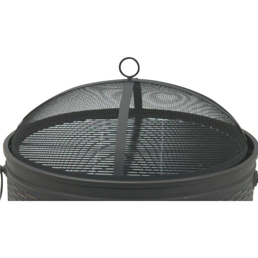 Outdoor Expressions 6.7 In. H. x 22.4 In. Dia. Black Mesh Fire Pit Cover