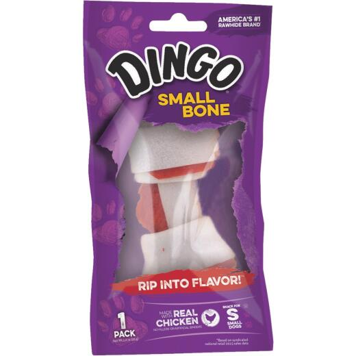 Dingo Knotted 3.5 In. to 4 In. 1.4 Oz. Rawhide Bone
