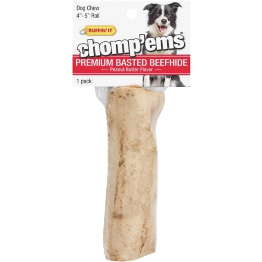 Westminster Pet Ruffin' it Chomp'ems Peanut Butter Stick 9 In. to 10 In. Rawhide Chew