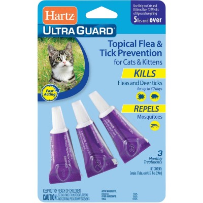 Hartz UltraGuard 3-Month Supply Flea Treatment For Cats & Kittens