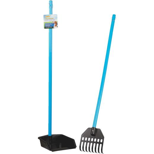 Westminster Pet Poop Patrol 37 In. Purple & Black Plastic Rake & Pan Pet Scooper