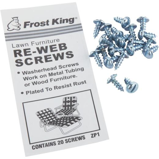 Frost King Plated Outdoor Chair Webbing Screws (20-Pack)