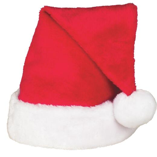 Gerson 17 In. Red Plush Santa Hat