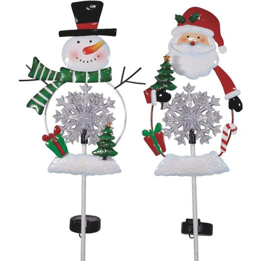 Alpine 36 In. LED Snowman/Santa Solar Stake Light